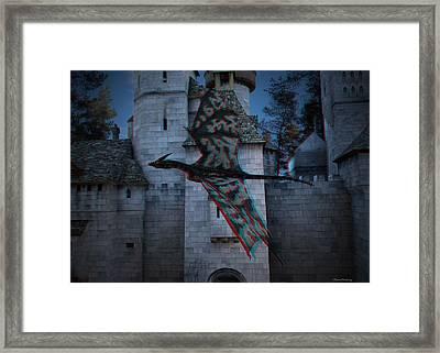 Anaglyph Dragon Framed Print