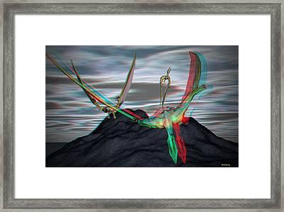 Anaglyph Quetzalcoatlus Framed Print