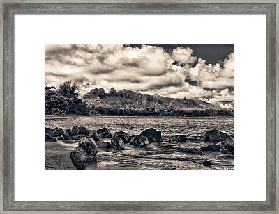 Anahola Mountains Framed Print by Robert  FERD Frank