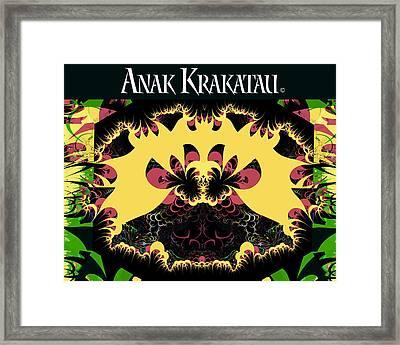 Anak Krakatau - Child Of Krakatoa Framed Print by Jim Pavelle