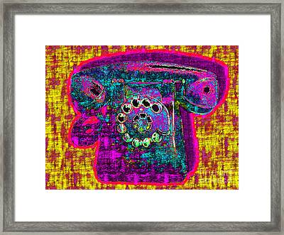 Analog A-phone - 2013-0121 - V1 Framed Print by Wingsdomain Art and Photography