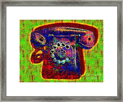 Analog A-phone - 2013-0121 - V2 Framed Print by Wingsdomain Art and Photography