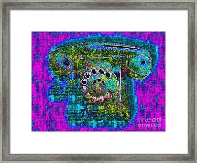 Analog A-phone - 2013-0121 - V3 Framed Print by Wingsdomain Art and Photography