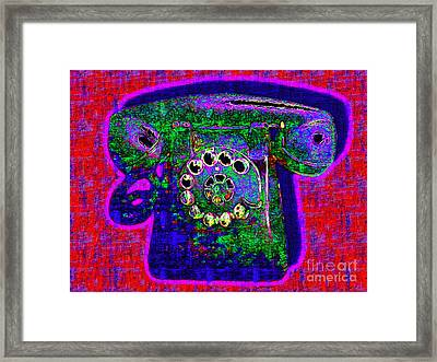 Analog A-phone - 2013-0121 - V4 Framed Print by Wingsdomain Art and Photography