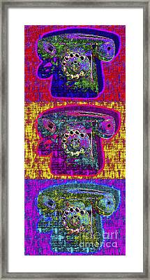 Analog A-phone Three - 2013-0121 Framed Print by Wingsdomain Art and Photography