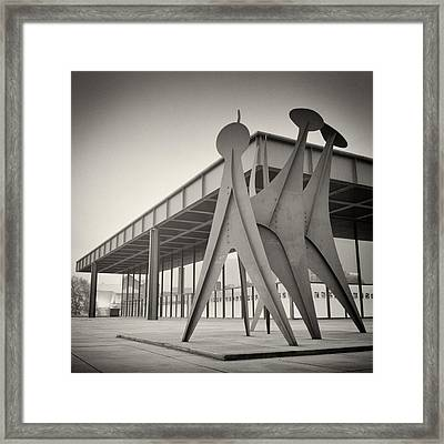 Analog Photography - Berlin Neue Nationalgalerie Framed Print by Alexander Voss