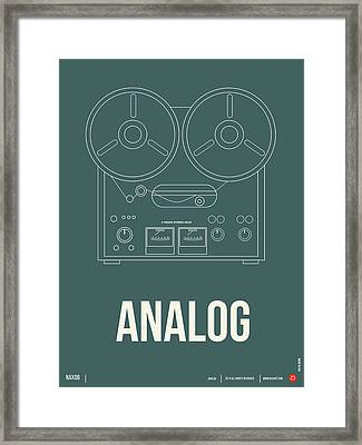 Analog Poster Framed Print by Naxart Studio
