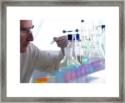 Analytical Chemistry Framed Print by Tek Image