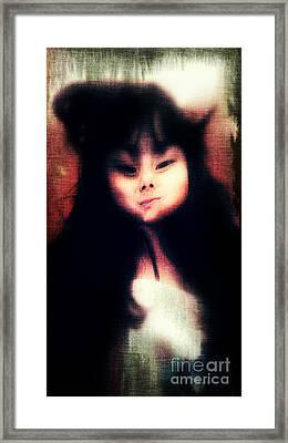 Anamorphic Princess Framed Print by Jose Benavides