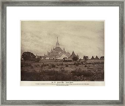 Ananda Pagoda Framed Print by British Library