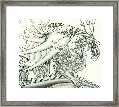 Anare'il The Chaos Dragon Framed Print by Shawn Dall