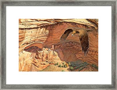 Anasazi - Ancient Ones Framed Print by Paul Krapf