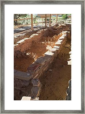 Anasazi Archaeological Excavations Framed Print by Jim West