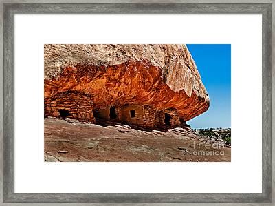 Anasazi Cliff Ruins Framed Print by Robert Bales