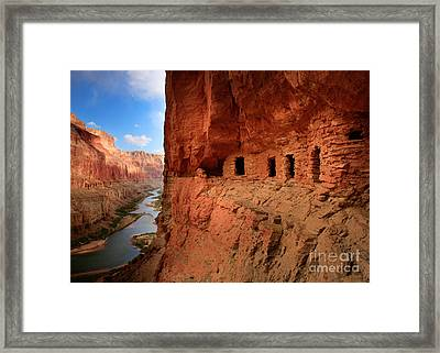 Anasazi Granaries Framed Print by Inge Johnsson