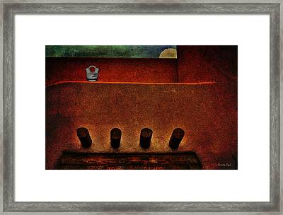 Anasazi Moon Framed Print by Karen Slagle