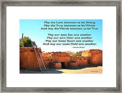 Anasazi Pueblos 1 Framed Print by Barbara Snyder