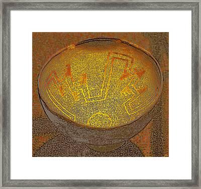 Anasazi Bowl Lost Pattern Framed Print by David Lee Thompson