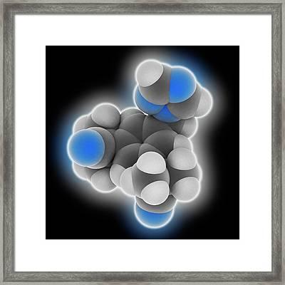 Anastrozole Drug Molecule Framed Print by Laguna Design