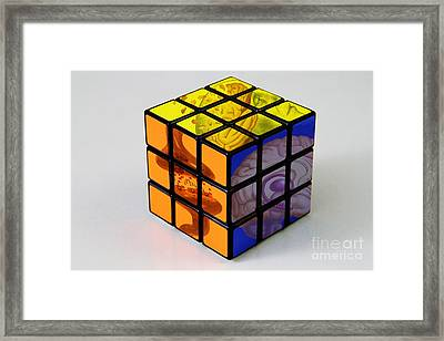 Anatomical Rubiks Cube Framed Print by Spencer Sutton