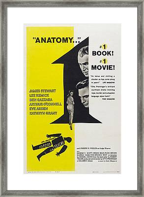 Anatomy Of A Murder, Us Poster Art Framed Print by Everett