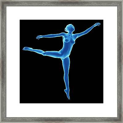 Anatomy Of Female Dancer Framed Print by Sebastian Kaulitzki