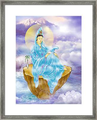 Framed Print featuring the photograph Anavatapta Kuan Yin by Lanjee Chee