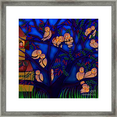 Ancestral Home Near The Tamarind Tree Framed Print by Latha Gokuldas Panicker