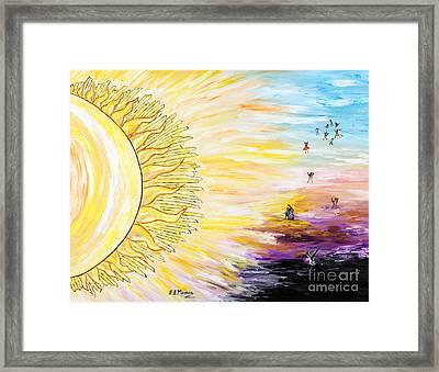 Anche Per Te Sorgera' Il Sole Framed Print