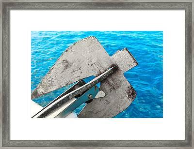 Anchor 1  Ocean Framed Print by Karl Anderson