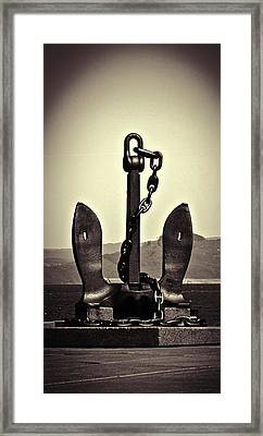 Ocean Framed Print featuring the photograph Anchor  by Aaron Berg
