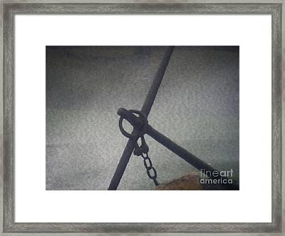 Anchor And Chain Framed Print by Steven Dejesus Jr