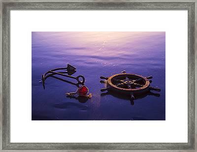 Anchor Beach Framed Print