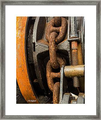 Anchor Chain - Tall Ship Elissa Framed Print