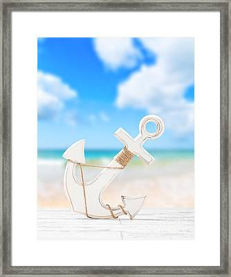 Anchor Framed Print by Amanda Elwell