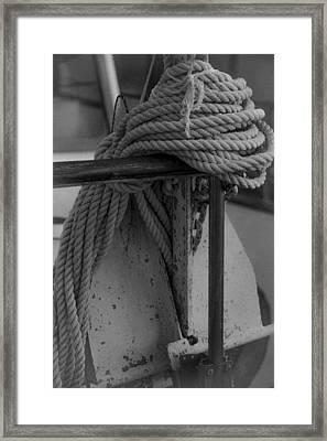 Anchor Framed Print by Jennifer Burley