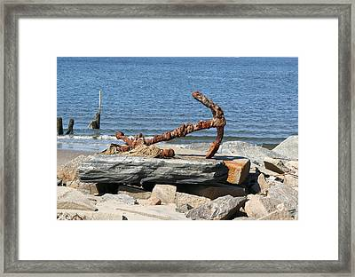 Framed Print featuring the photograph Anchor by Karen Silvestri