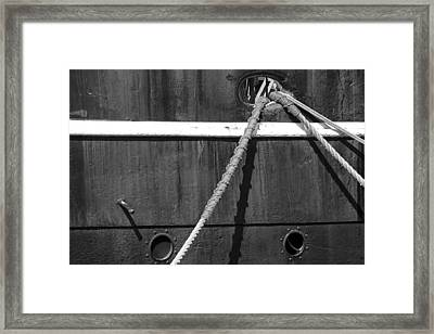 Anchor Lines Framed Print