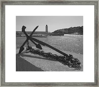 Anchor Framed Print by Louise Fahy