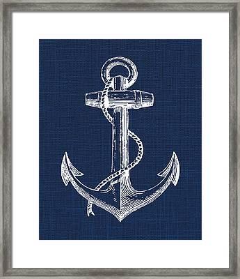 Anchor Nautical Print Framed Print by Jaime Friedman
