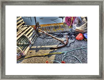 Framed Print featuring the photograph Anchor by Shawn Everhart