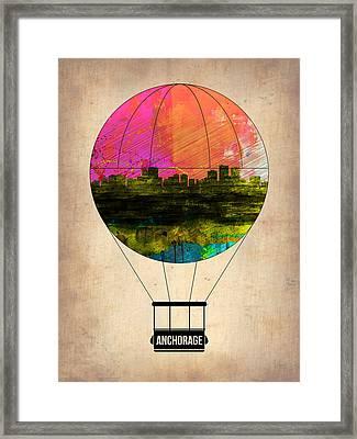 Anchorage Air Balloon  Framed Print