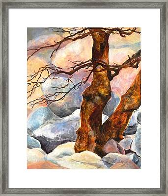 Anchorage Framed Print by Betty M M   Wong