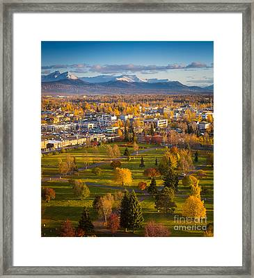 Anchorage Landscape Framed Print by Inge Johnsson
