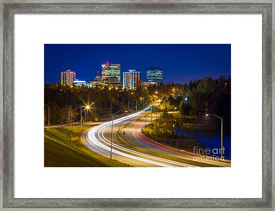 Anchorage Skyline Framed Print