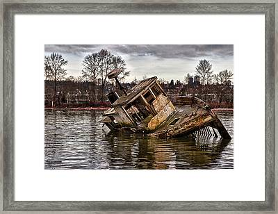 Anchored Forever Framed Print