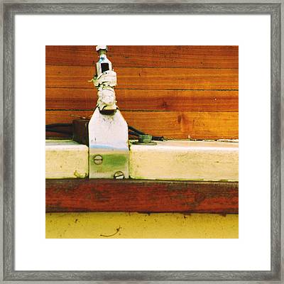 Anchored Framed Print by Jacob Cane