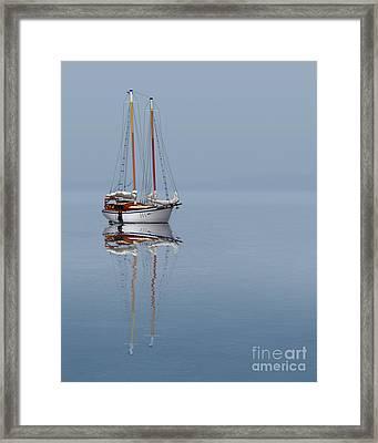 Anchored Framed Print by Linda Kozachenko