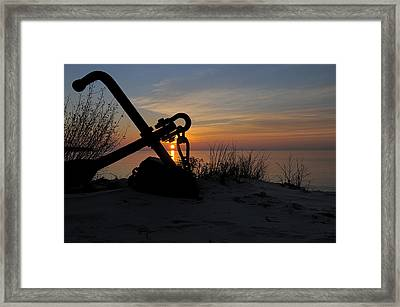 Anchored Framed Print by Sandra Updyke