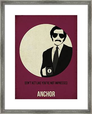 Anchorman Poster Framed Print by Naxart Studio